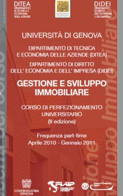 Corso Ditea Gestione e Sviluppo Immobiliare Aprile 2010, Pregia