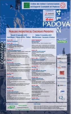 Problemi e prospettive del concordato preventivo, Padova 2014