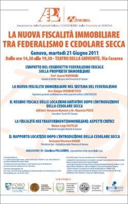 La nuova fiscalità immobiliare tra federalismo e cedolare secca